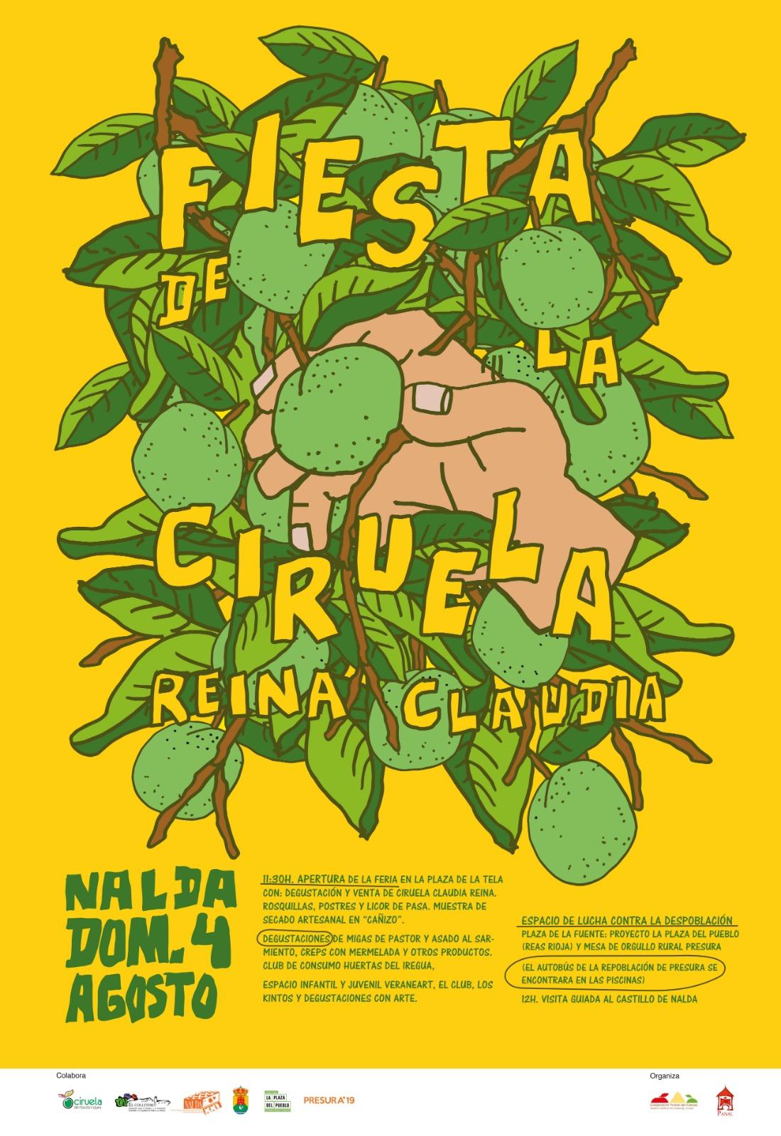 Cartel de la fiesta de la Ciruela Claudia de Nalda.